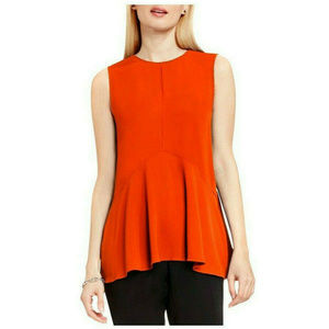 Vince Camuto Women Georgette Swing Top Size M